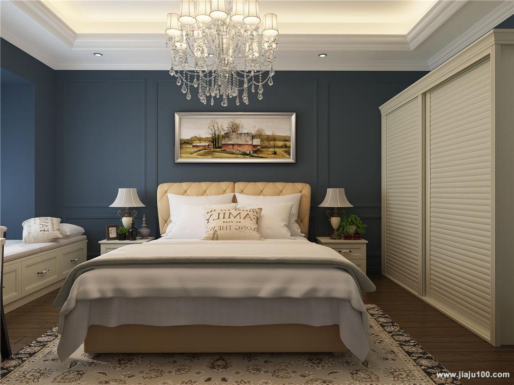 衣柜+床+地柜