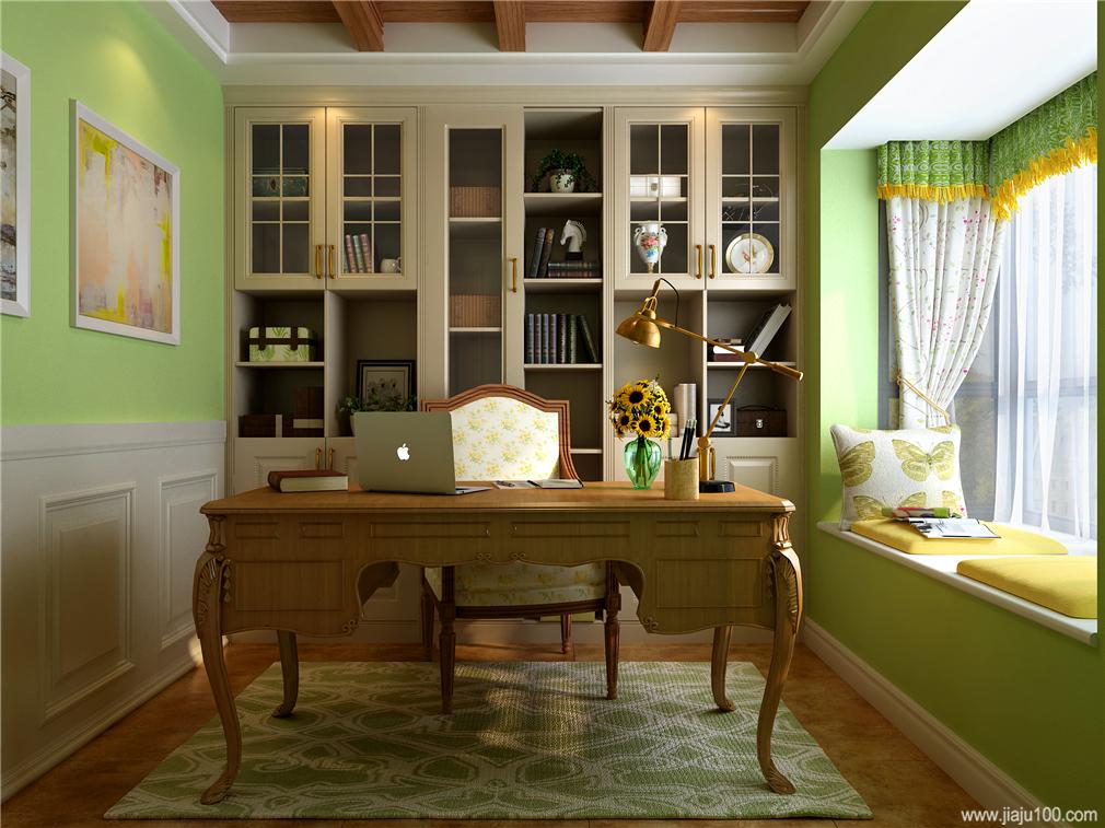 开放和封闭相结合书桌柜定制