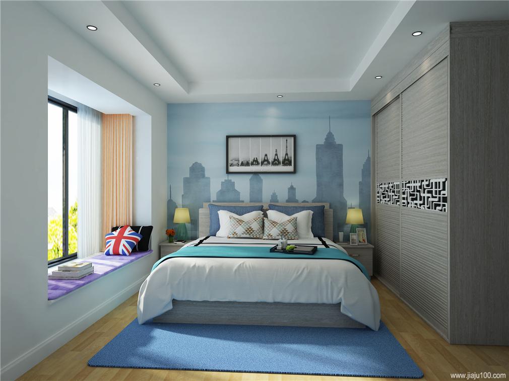 衣柜+床+床头柜