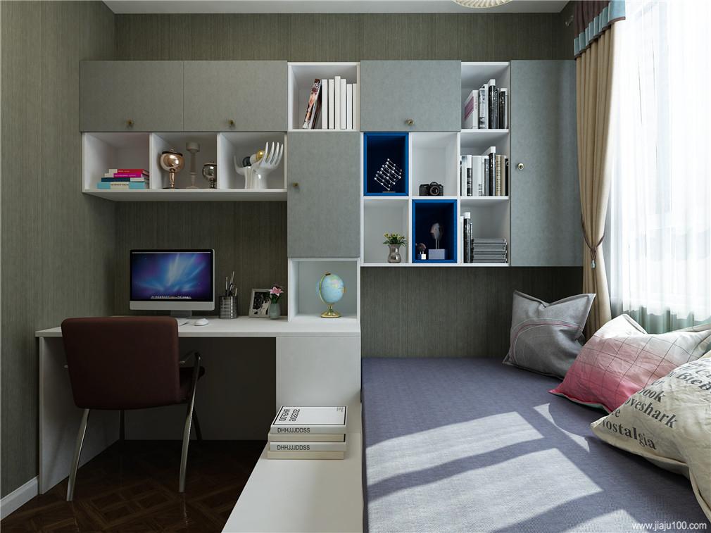 电脑桌+书柜