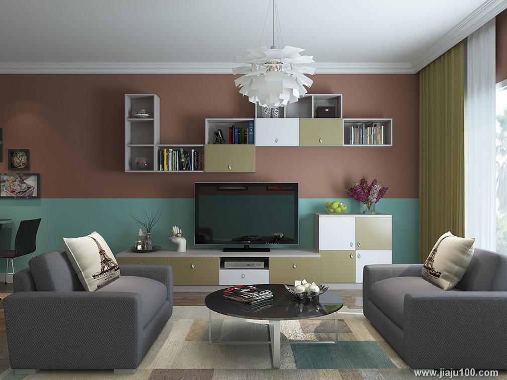 客厅整体电视柜定制