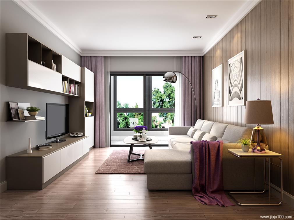 客厅电视柜沙发茶几整体设计