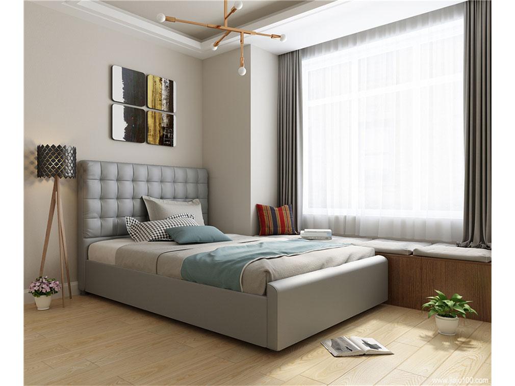 卧室床布局图片