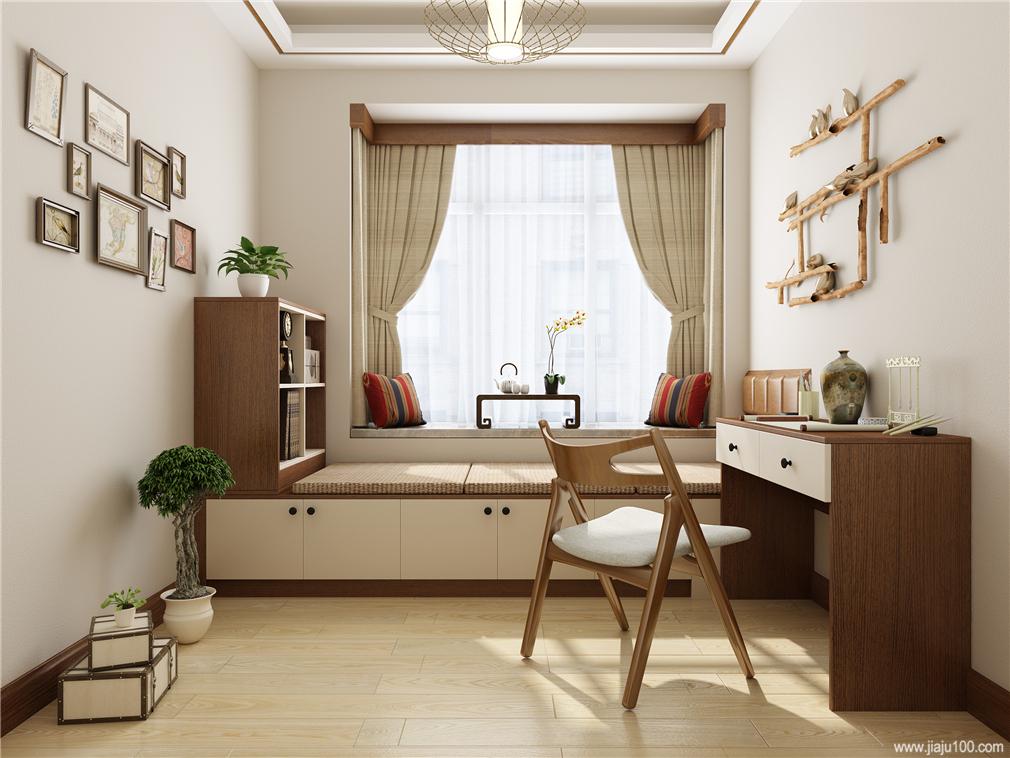 老人房榻榻米书桌设计