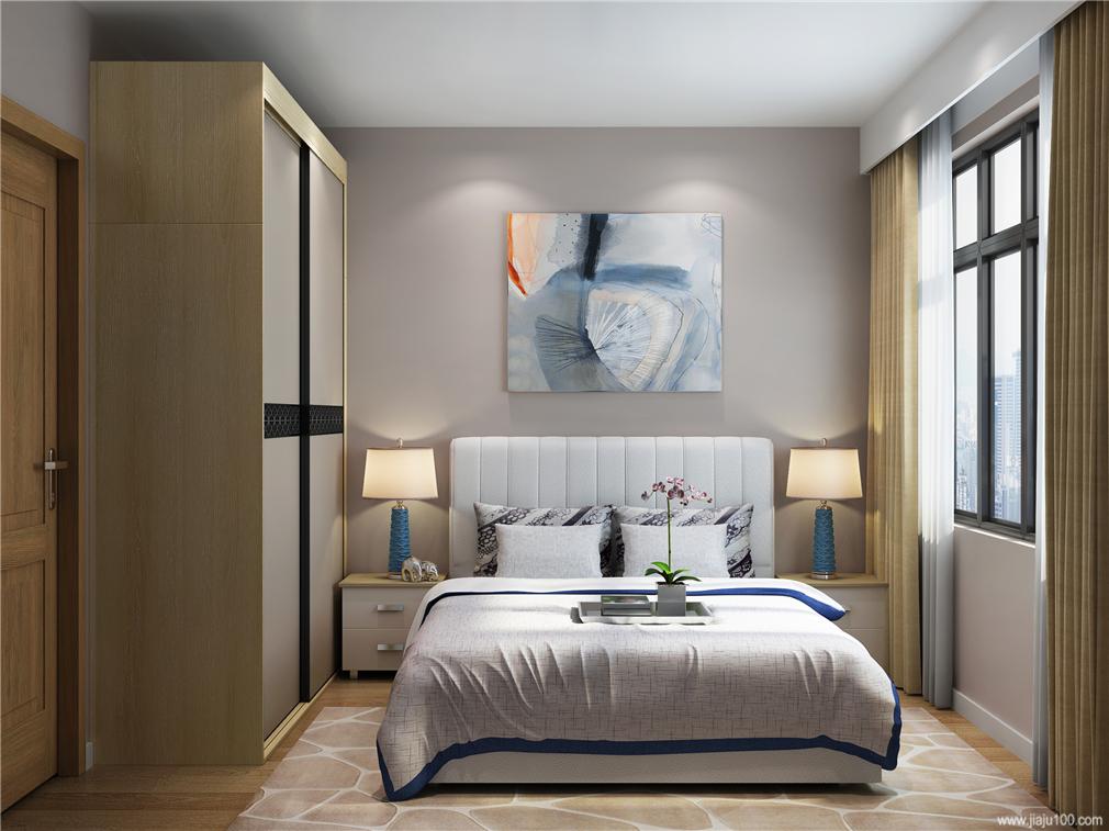 卧室床衣柜图片