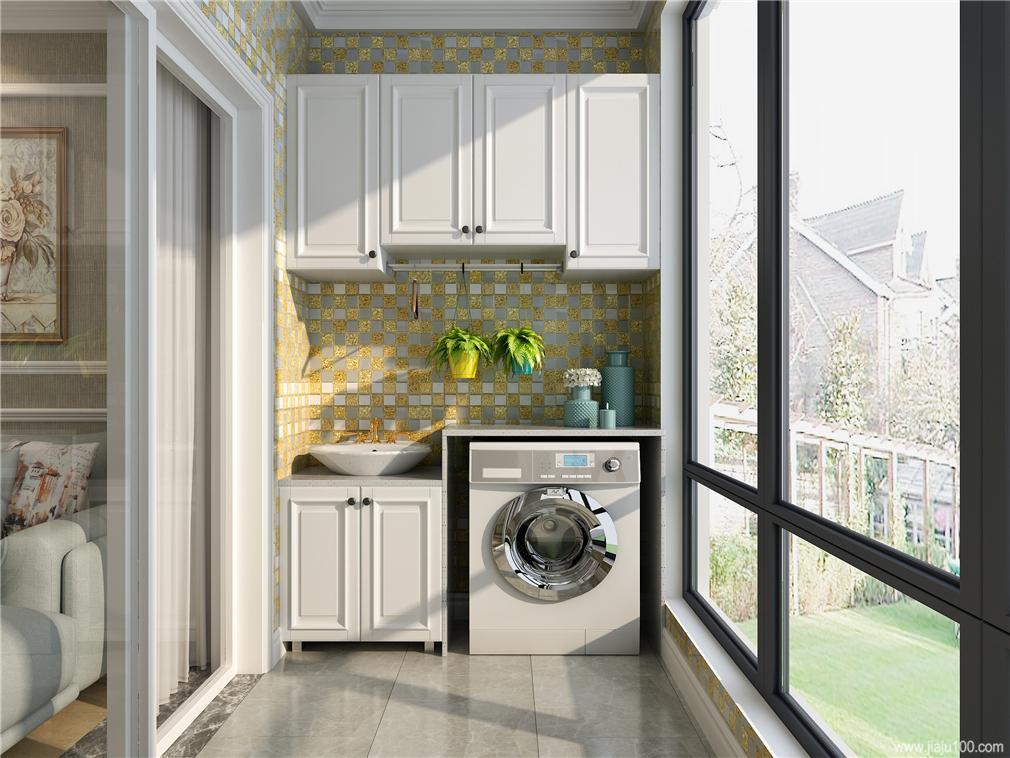 阳台洗手柜设计图