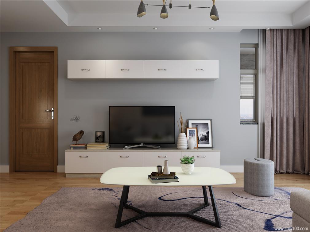 客厅电视柜吊柜设计
