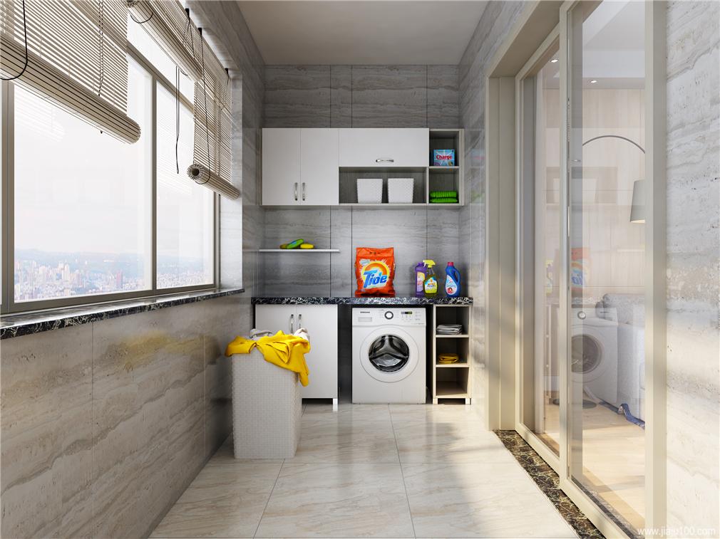 小户型阳台柜洗衣柜定制