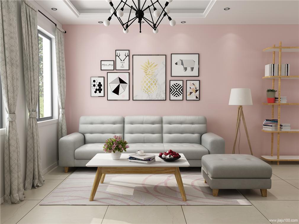 小户型客厅真皮沙发图片