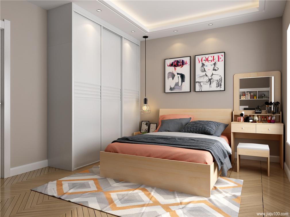 卧室到顶移门衣柜