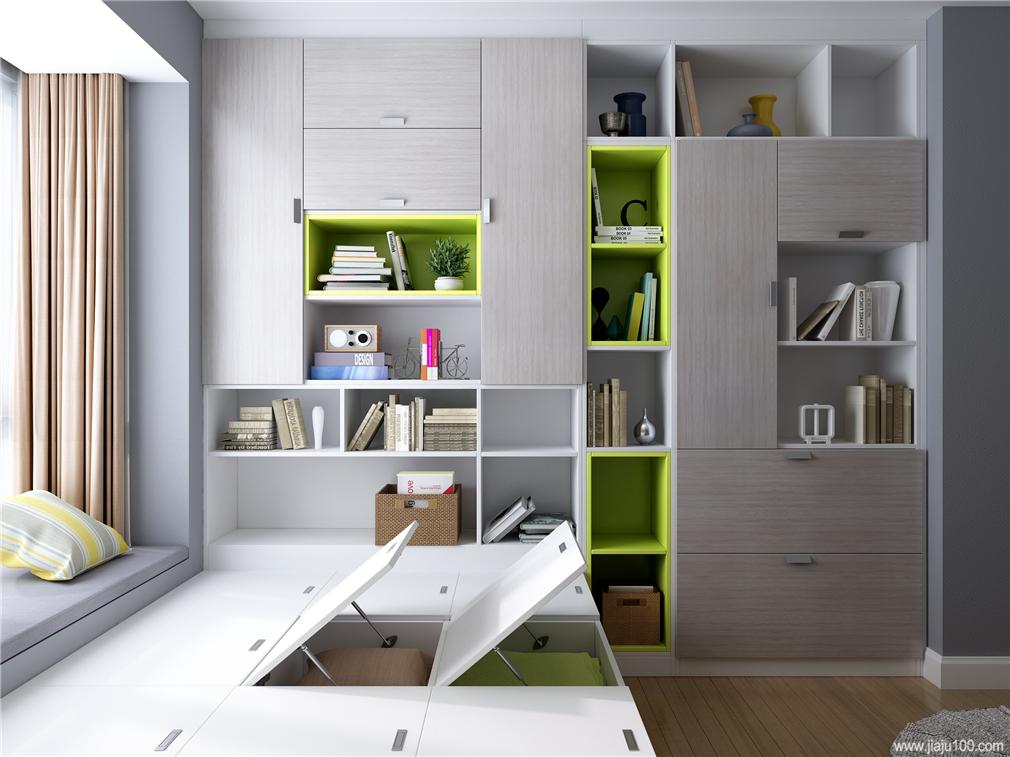 榻榻米房间书柜装饰柜