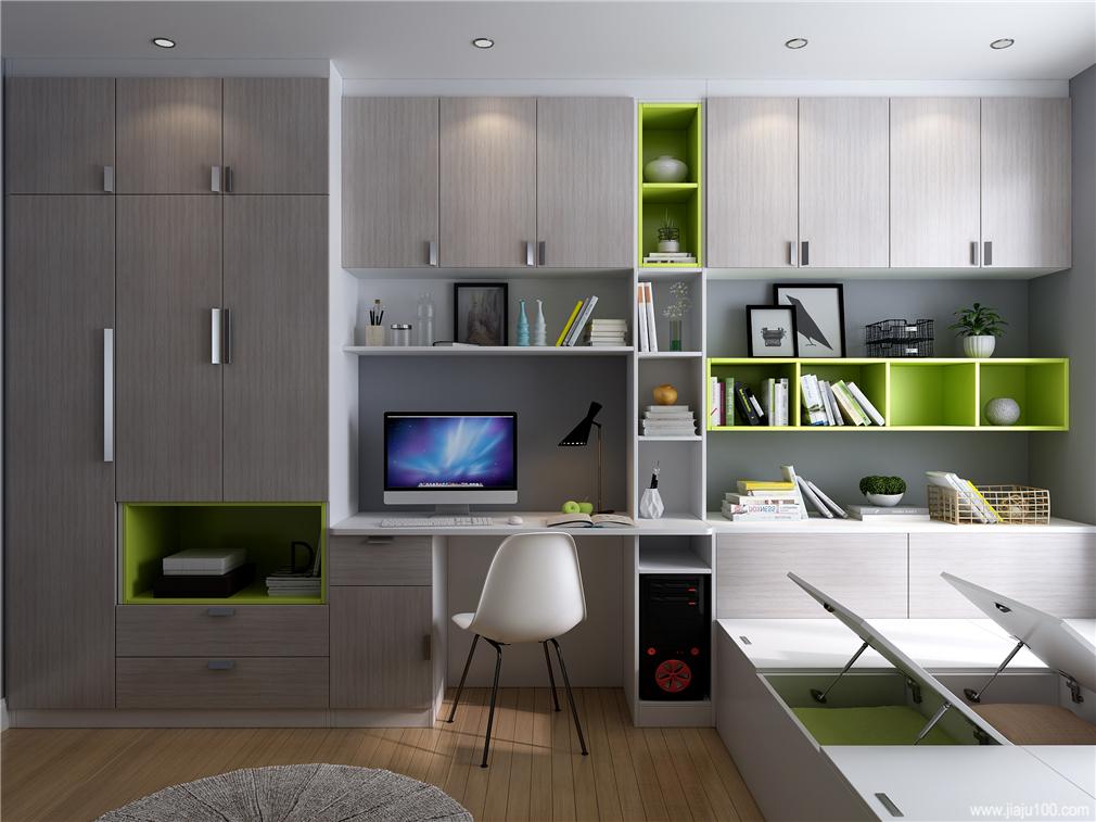 卧室榻榻米书桌电脑桌