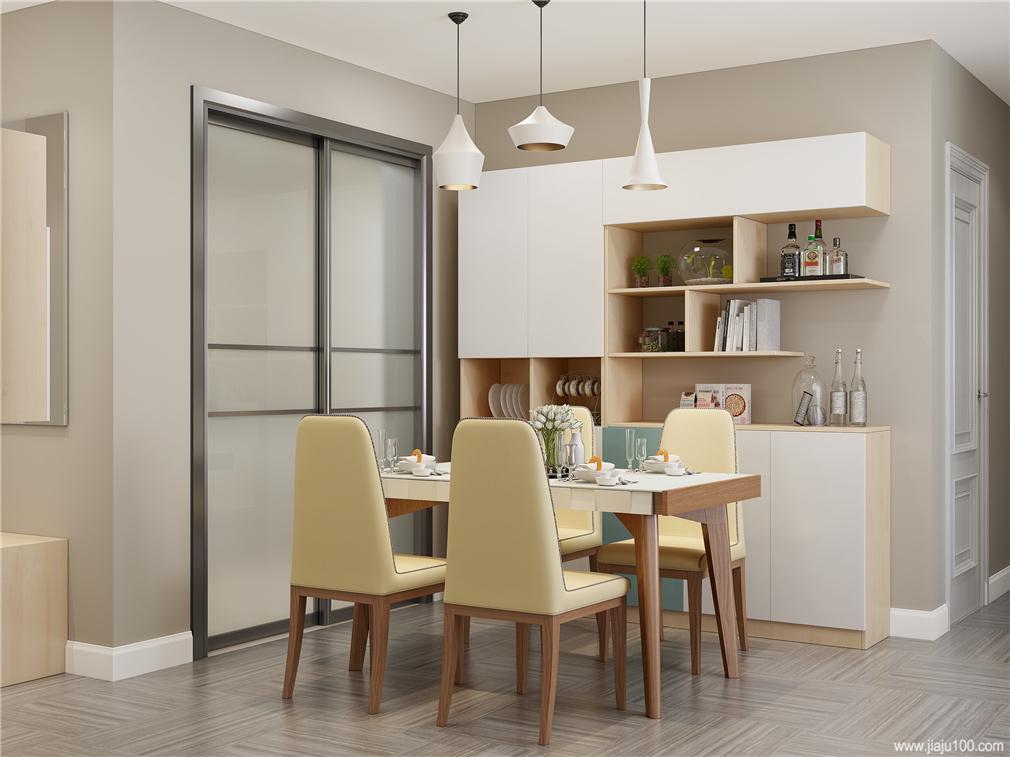 餐厅实木框架餐桌椅