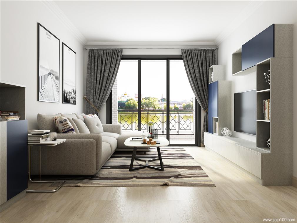 简约客厅家具组合搭配效果图