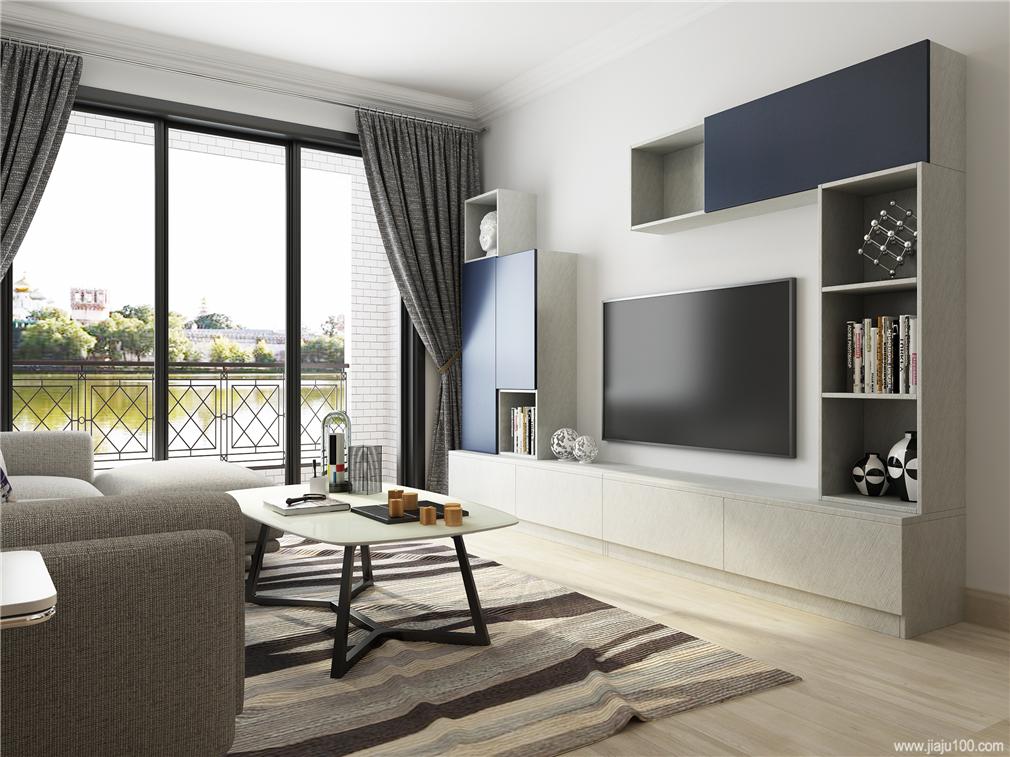 半包围式客厅电视柜组合