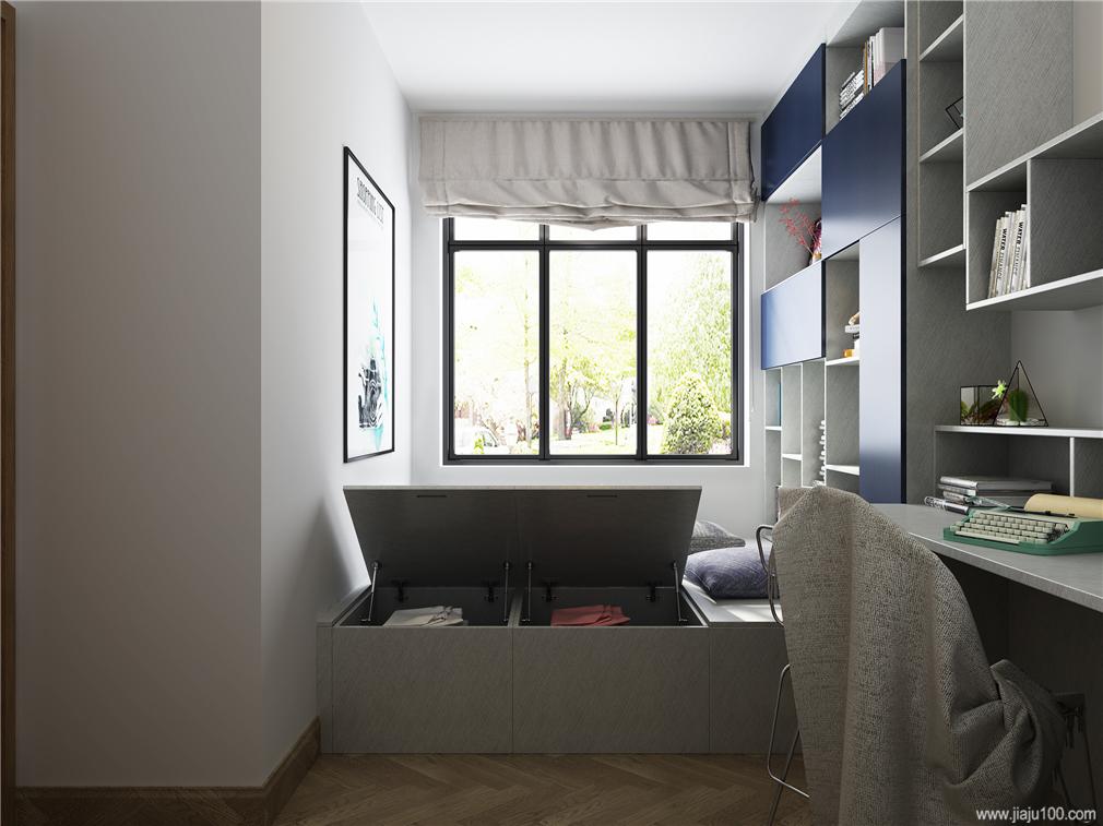 卧室榻榻米床设计效果图
