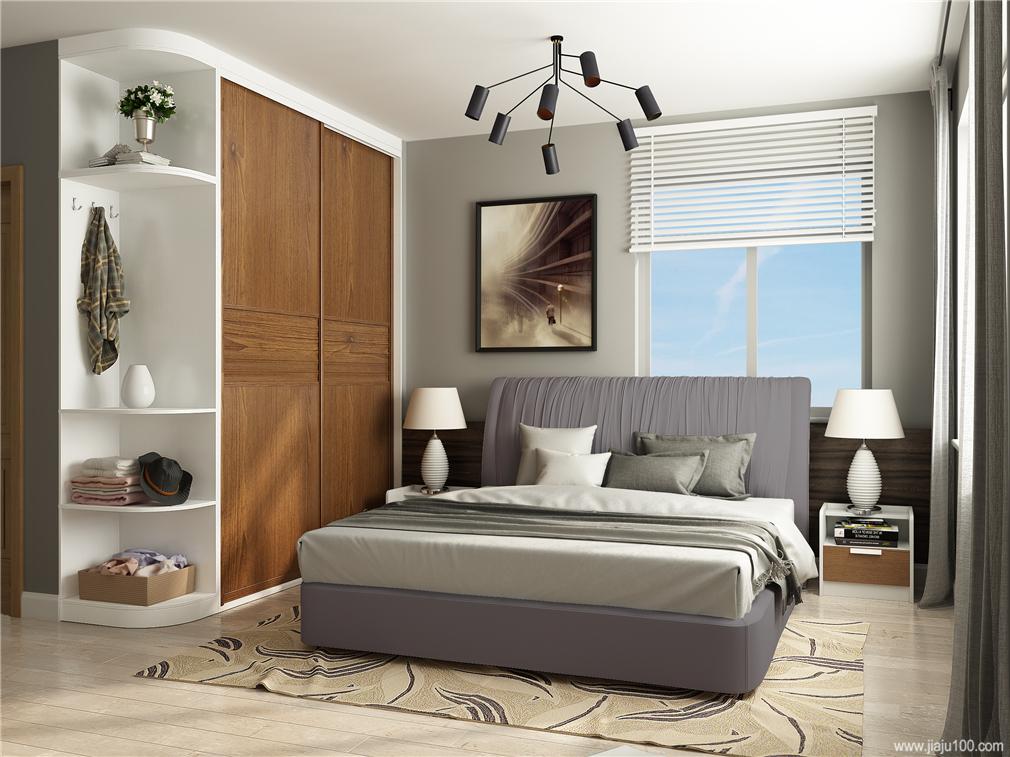 卧室高档时装面料布艺床