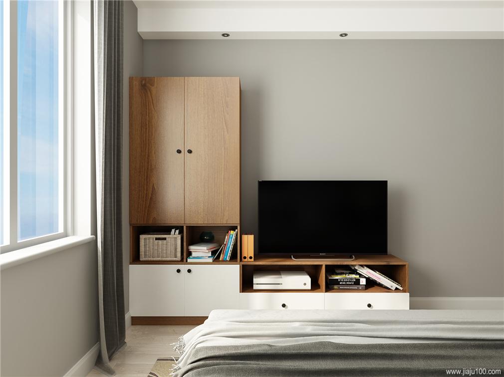 卧室L型电视柜