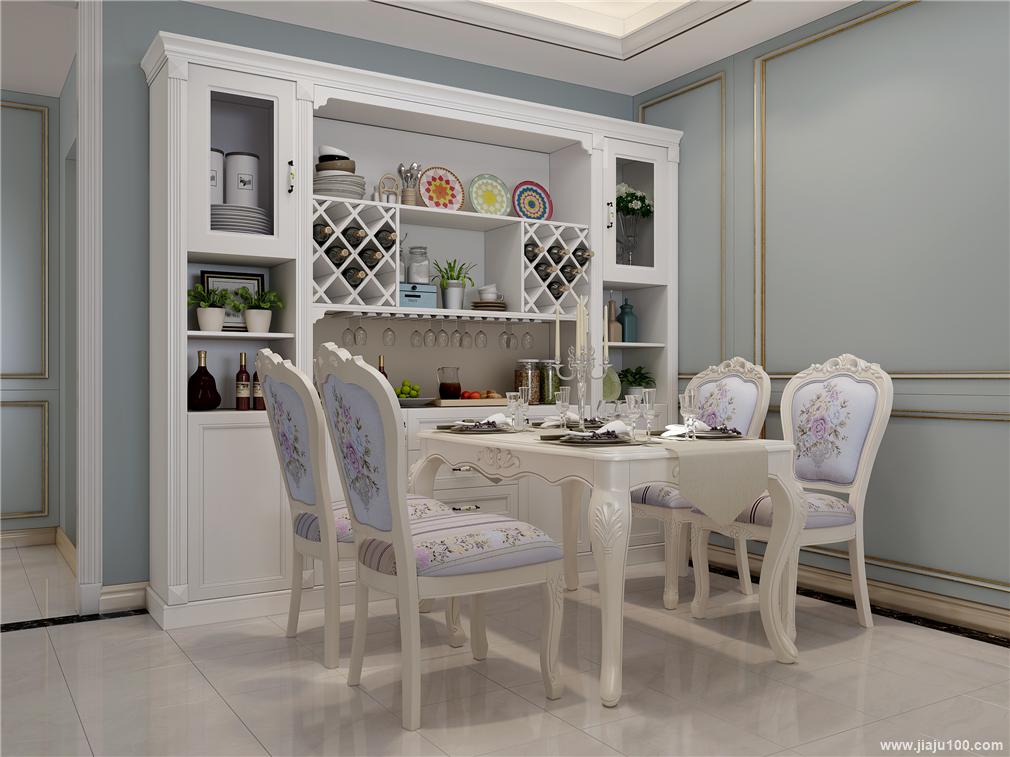 餐厅餐边柜餐桌椅组合设计