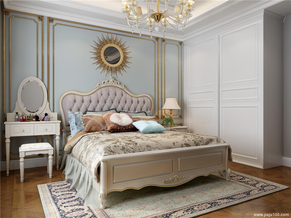 欧式床头柜梳妆台设计