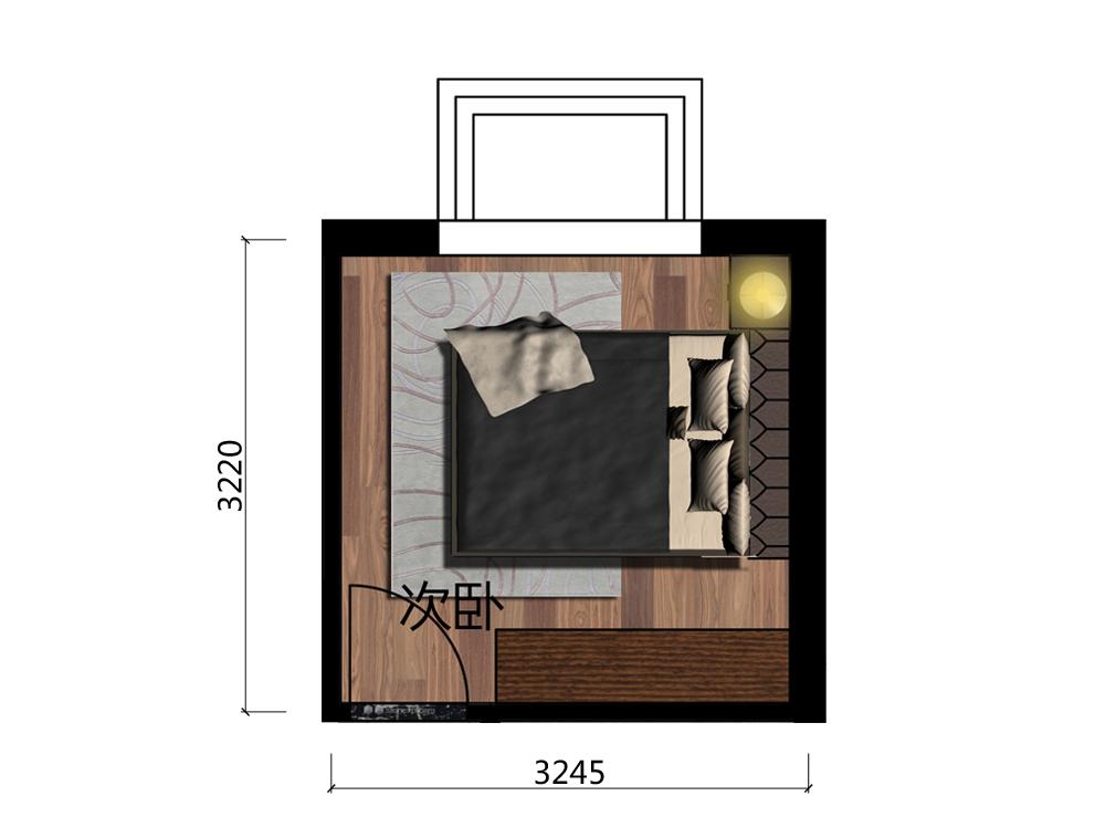 10㎡次卧设计户型图