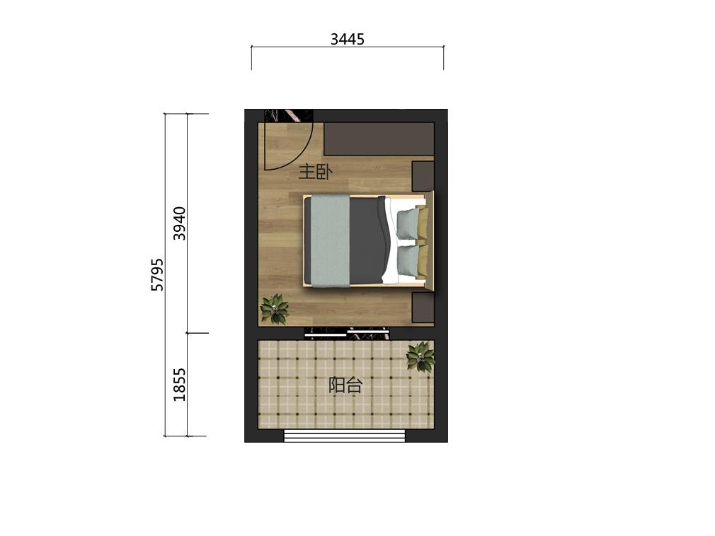 12平主卧家具设计户型图