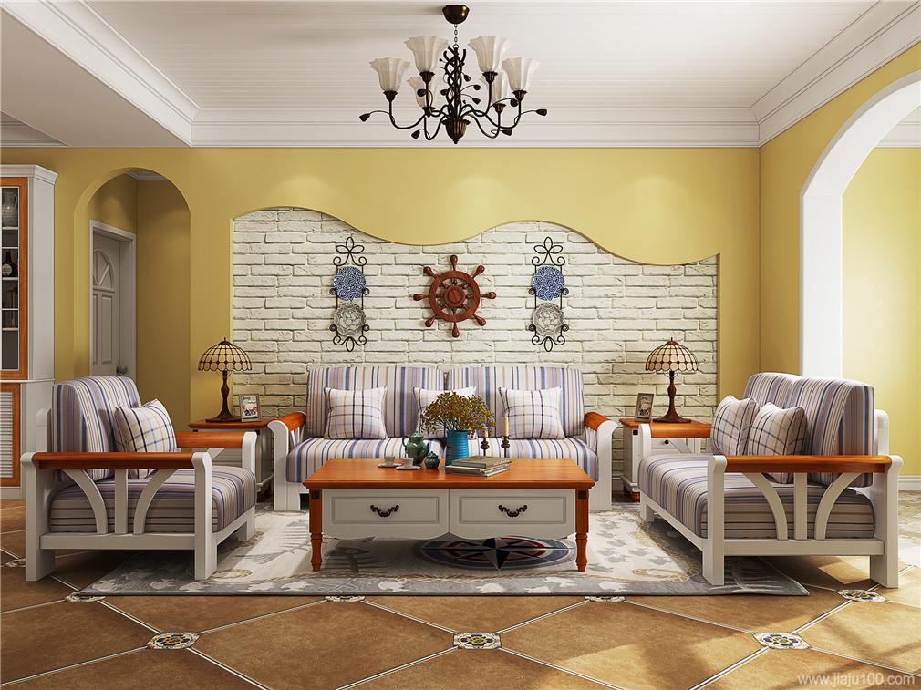 地中海风格客厅沙发