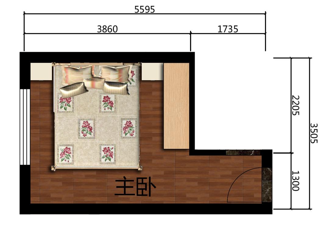 14平米卧室设计户型图