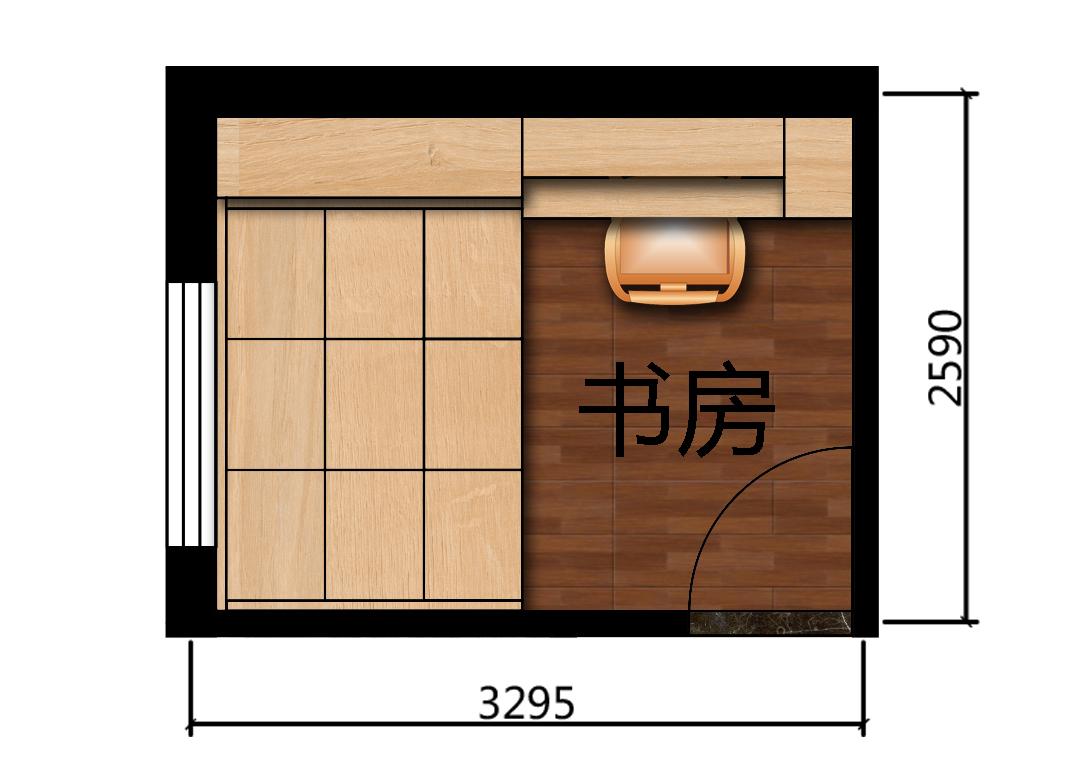 8平米书房设计户型图