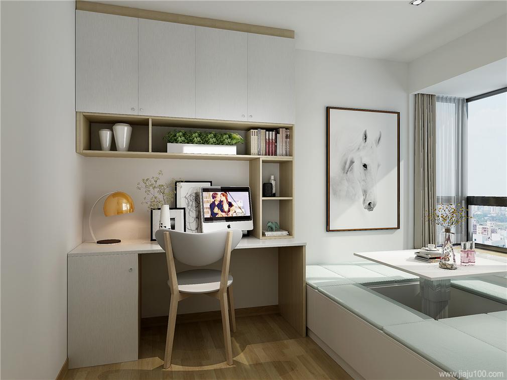 北欧风格女孩房书桌柜