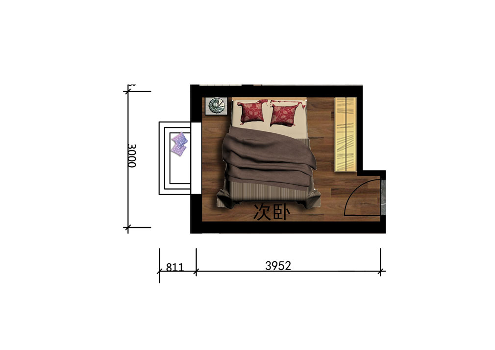 10平平米次卧设计户型图