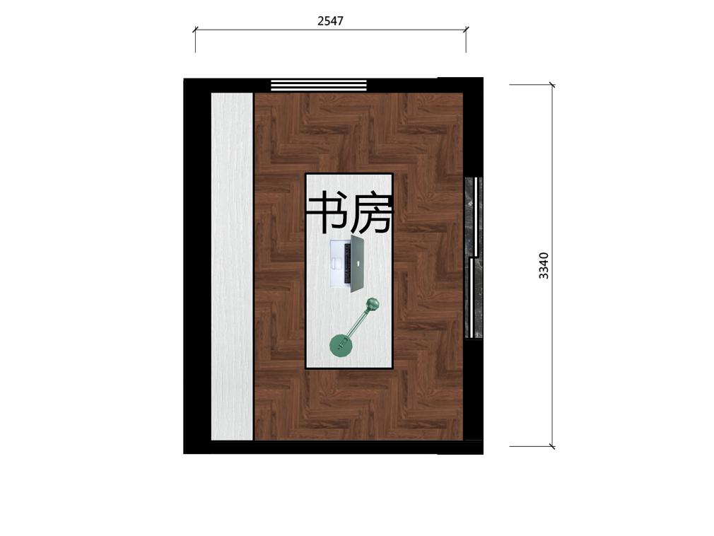 8平米小书房设计户型图
