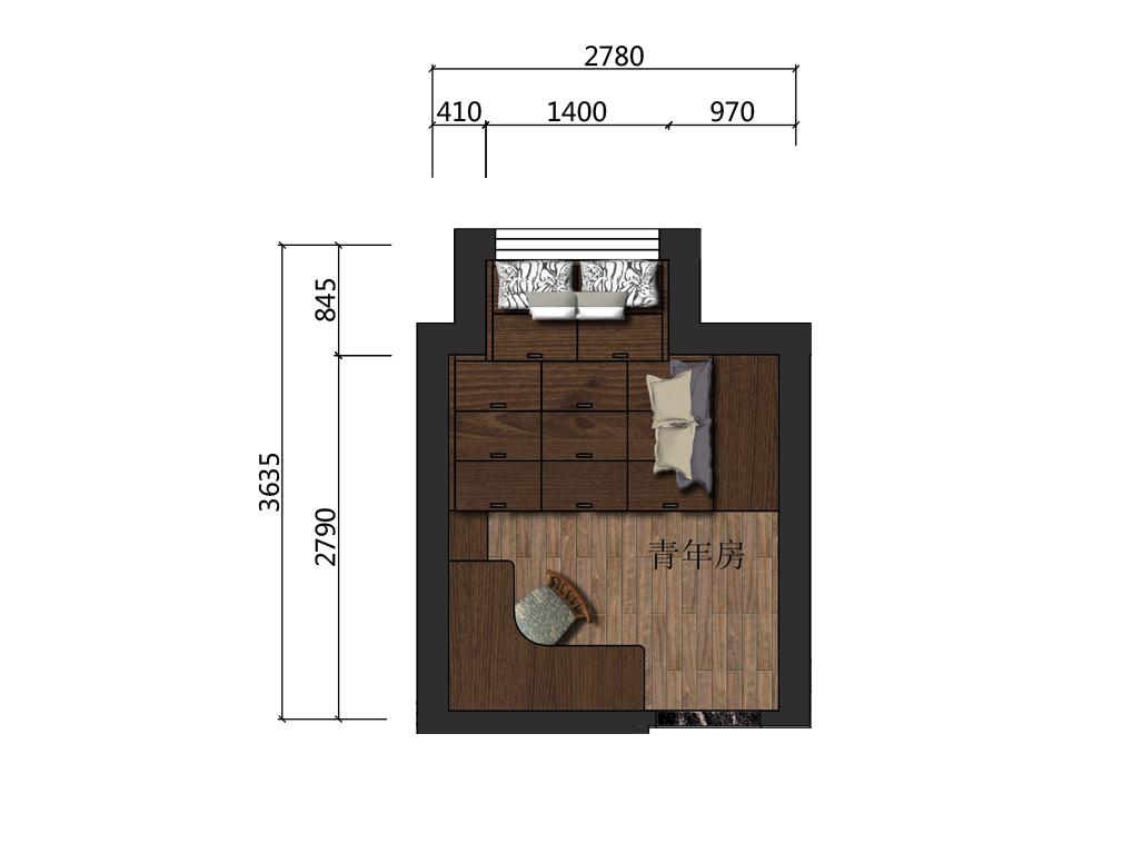 8平米儿童房设计户型图