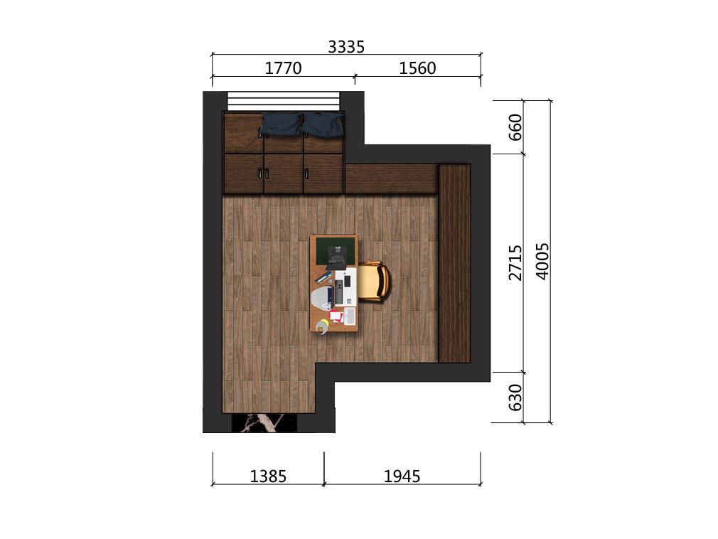 9平米书房设计户型图