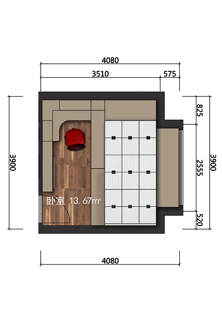 14平米主卧设计户型图
