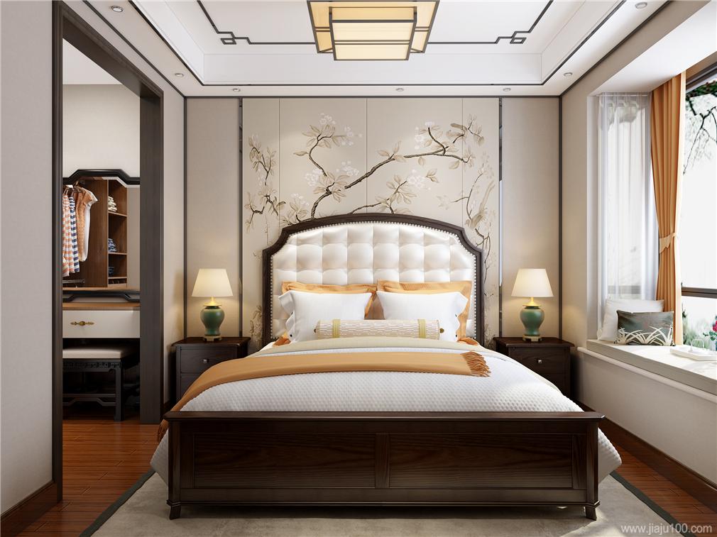 新中式主卧家具