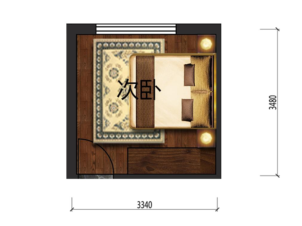 10平米次卧家具设计户型图
