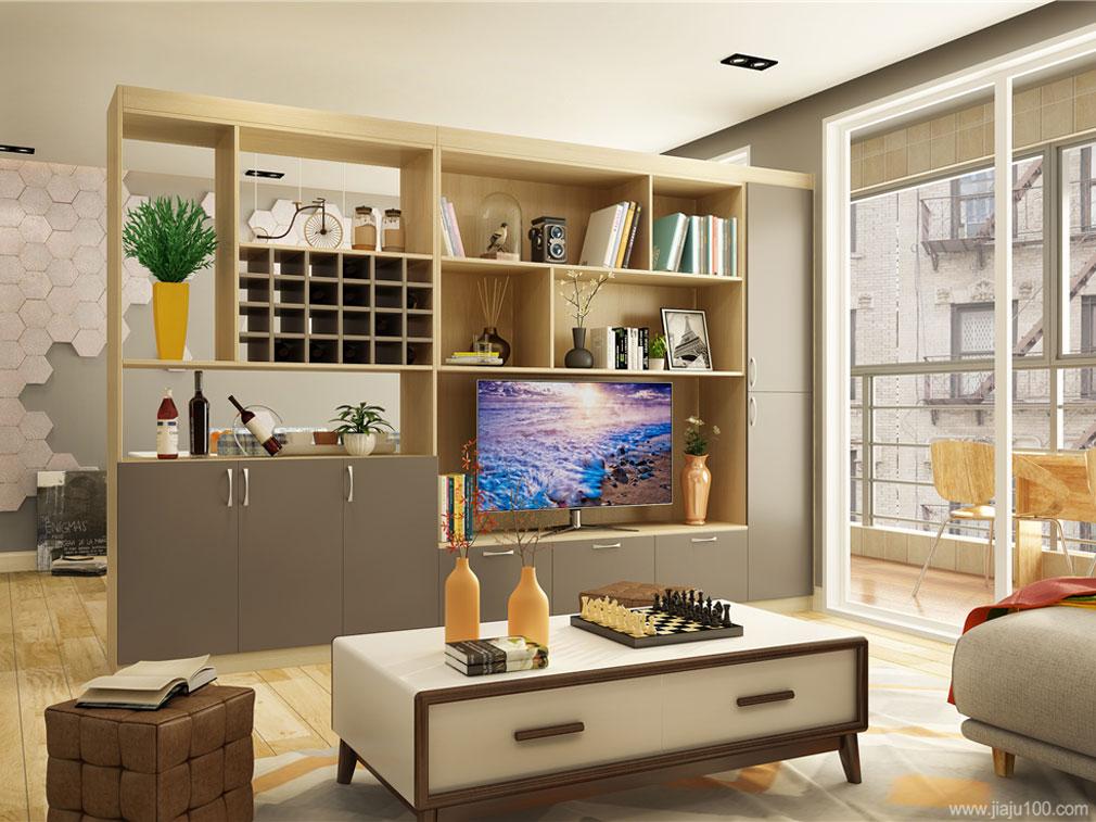 客厅电视柜隔断墙