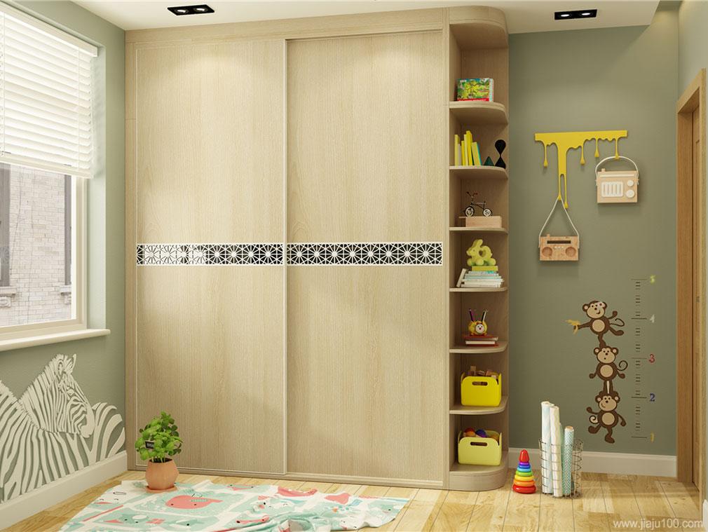 儿童房推拉门衣柜