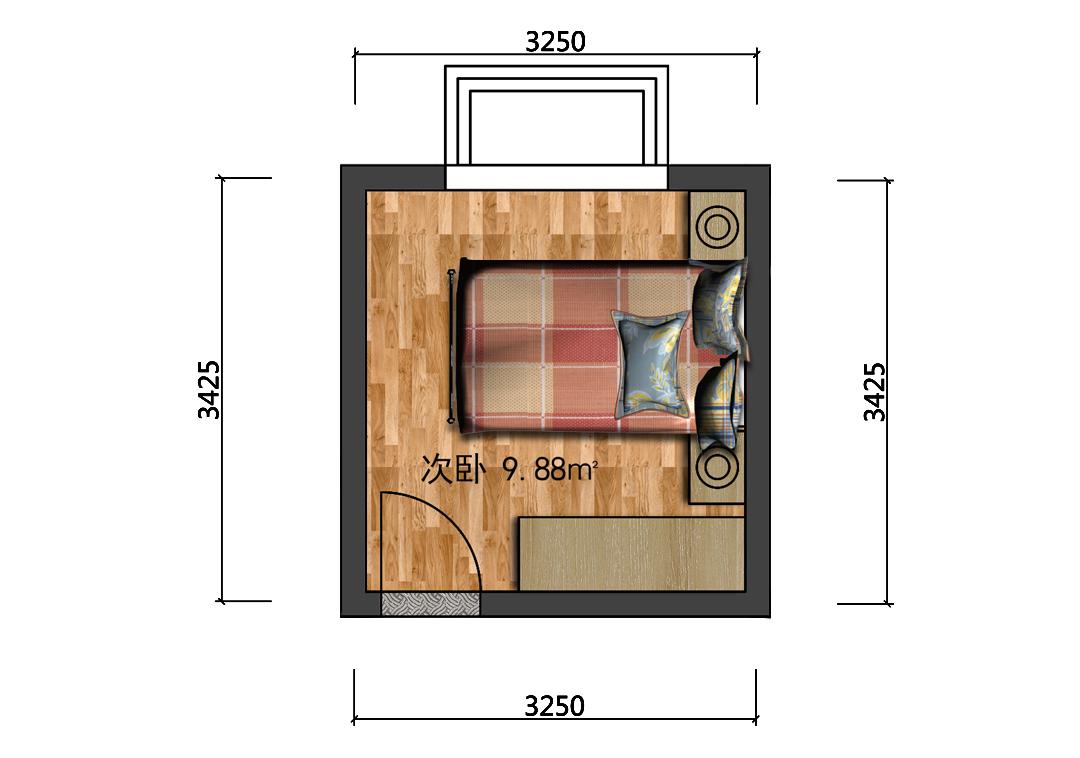 10平米次卧设计户型图