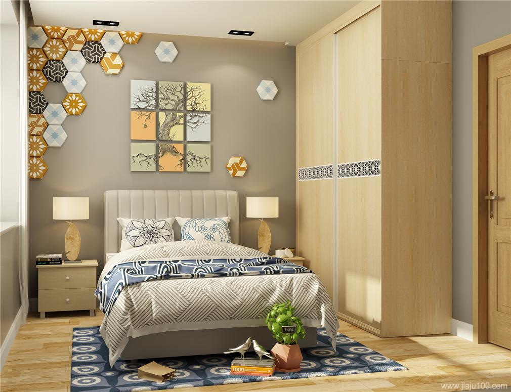现代简约次卧家具