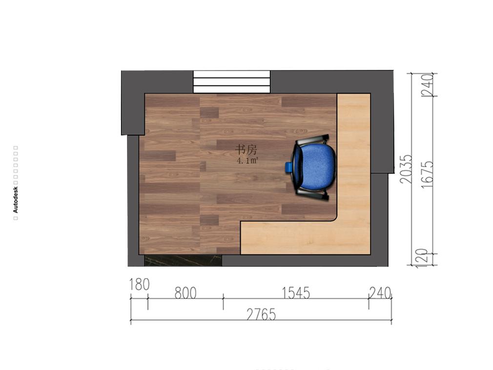 4平方书房户型图