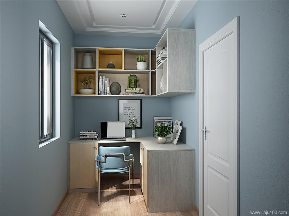 书房书桌吊柜搭配设计效果图