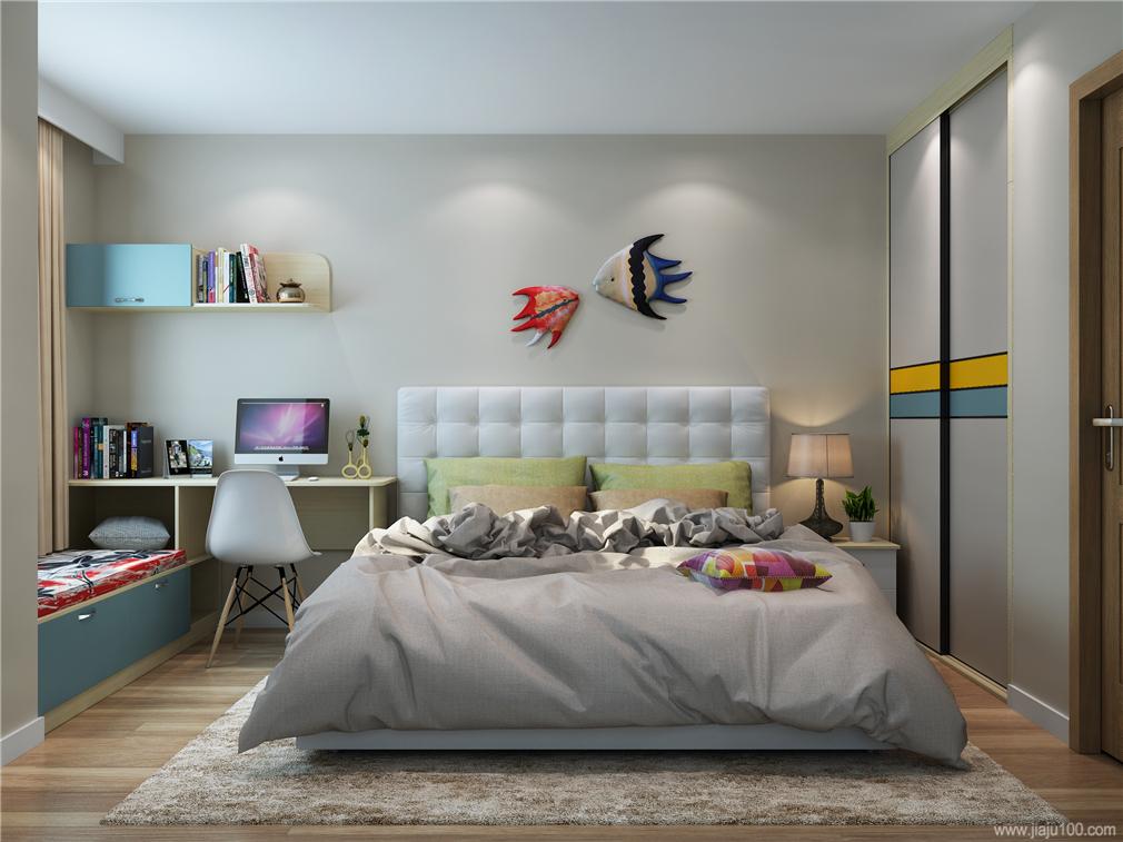 主卧室整体家具定制图