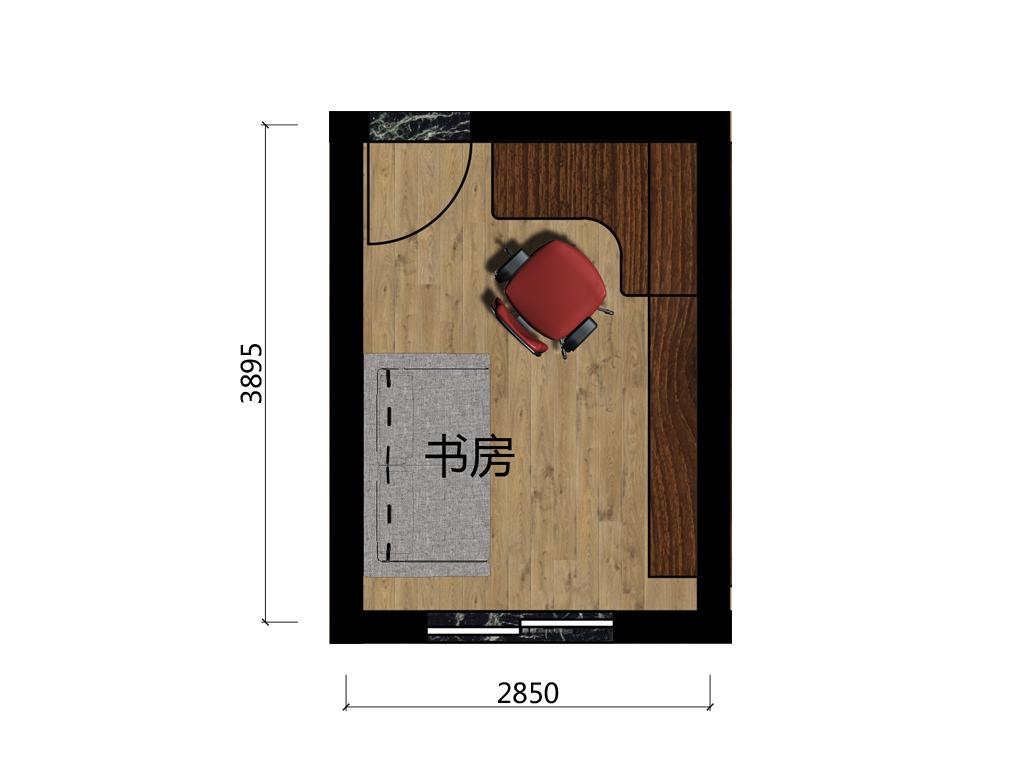 9.6平米书房平面设计图