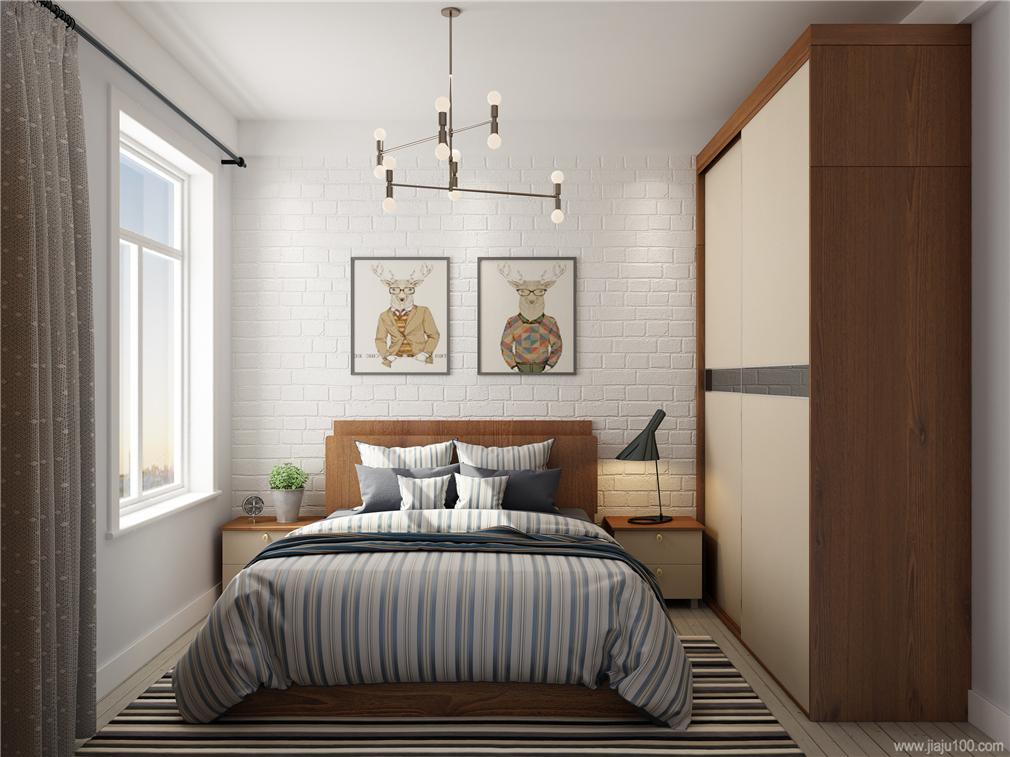 现代简约卧房家具设计图