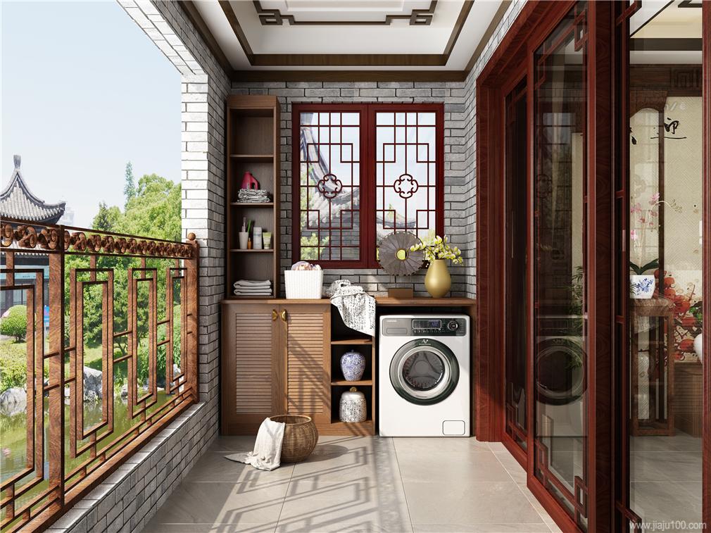 中式风格阳台柜设计图