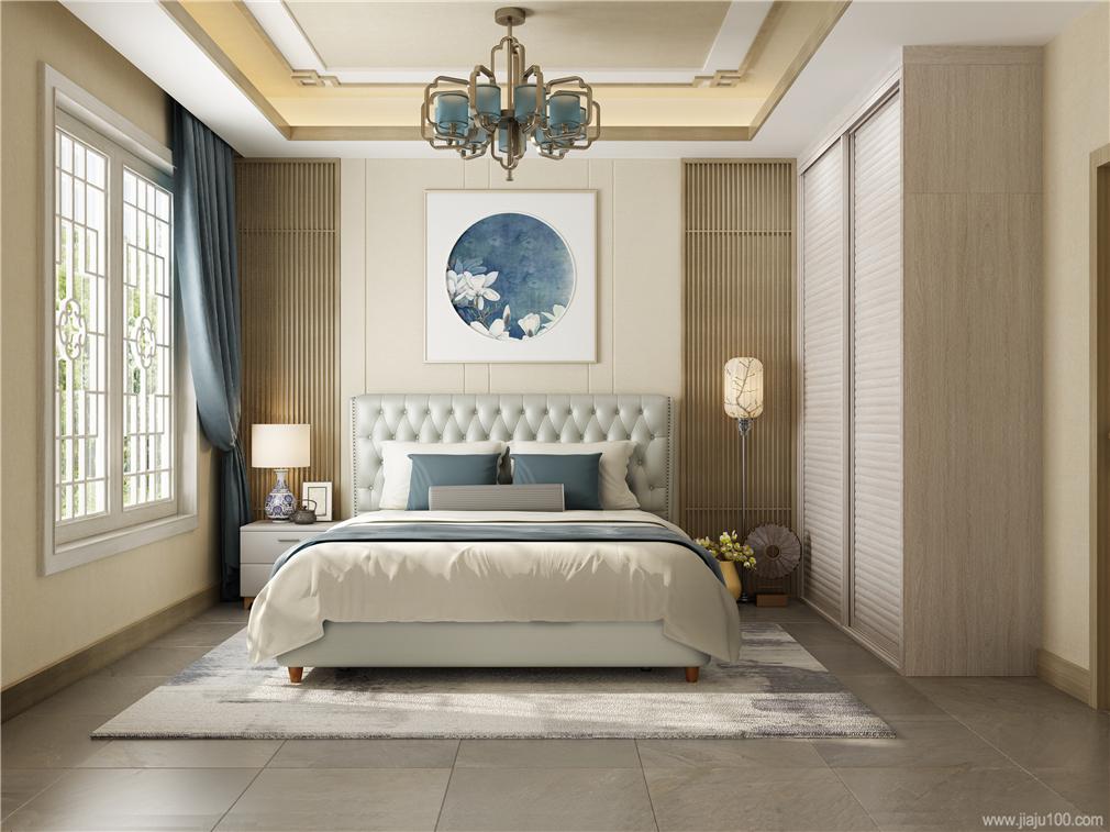 浅色系卧室家具设计图