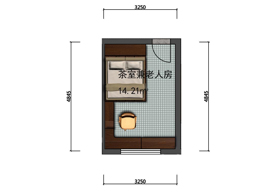 老人房室内彩平图