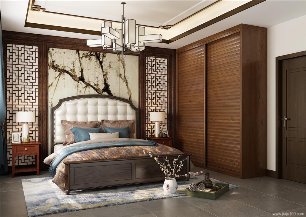 中式卧室家具设计效果图